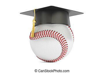 baseball sports education concept, 3D rendering