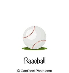 Baseball sports game ball, vector illustration