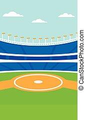 baseball, stadium., bakgrund