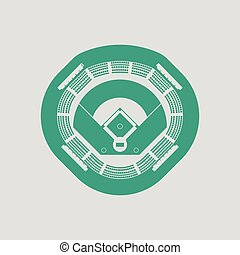 Baseball stadium icon
