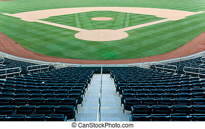 Baseball Stadium - Baseball stadium with seating and a...