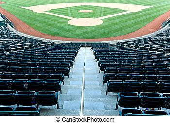 Baseball stadium - Empty seats at a baseball stadium
