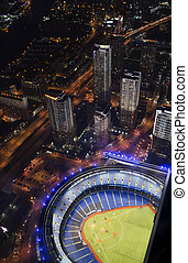 Baseball stadium with skyscrapers - Rogers Centre in Toronto...