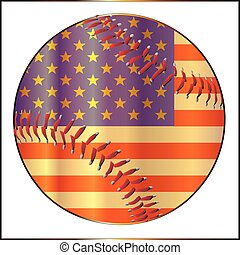 Baseball Stars And Stripes - A stars and stripes baseball...