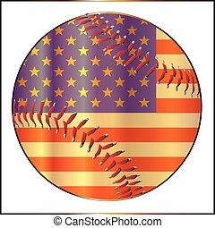 Baseball Stars And Stripes - A stars and stripes baseball...