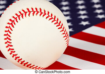 baseball, stars and stripes, the game americans play - macro...