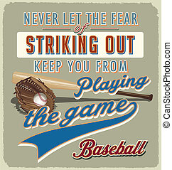 baseball striking out - baseball vector for T-shirt printed...