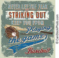 baseball striking out crack paint - baseball vector for...