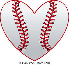 baseball, szív