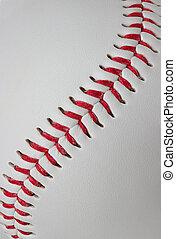 baseball, szczegół, szczelnie-do góry
