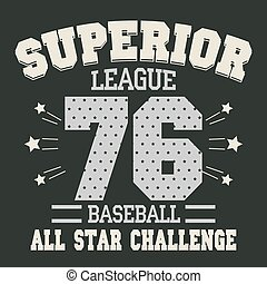 Baseball t-shirt graphic design