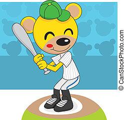 Baseball Teddy Bear - Cute teddy bear playing baseball...