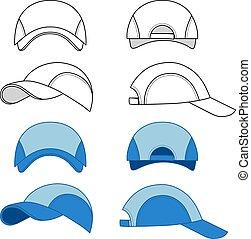 Baseball, tennis cap