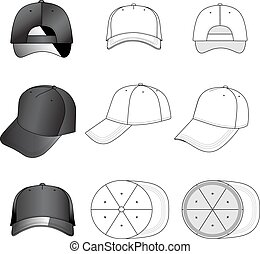 Baseball, tennis cap set