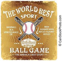 baseball the world sport