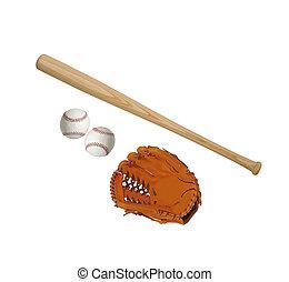 baseball theme isolated on white background