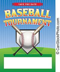 Baseball Tournament Illustration - A baseball tournament...