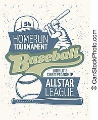 Baseball Tournament Print - Baseball tournament print with...