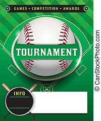 Baseball Tournament Template Illustration - A baseball...