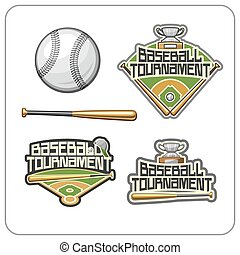 Baseball tournament - Vector illustration of the logo for...