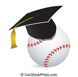 Baseball training school illustration design over white