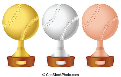Baseball trophy set