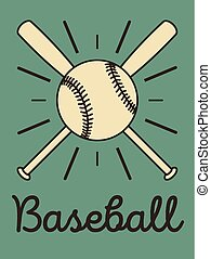 Baseball typographical vintage style poster. Baseball label, badge, icon. Retro vector illustration.