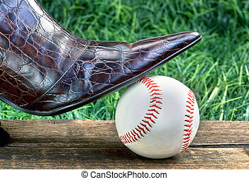 Baseball Under My Shoe.