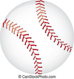 baseball ball isolated over white background. vector