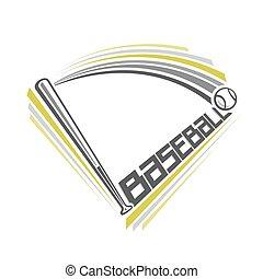 Baseball - Vector illustration of the logo for baseball,...