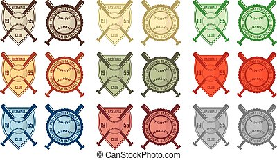 Baseball vintage badges