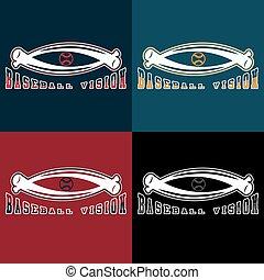baseball vision vector design template