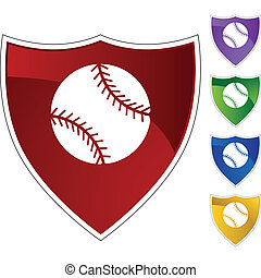 baseball web button isolated on a background