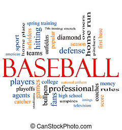 Baseball Word Cloud Concept with great terms such as...