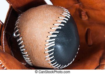 baseballhandske, med, boll