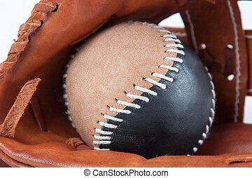 baseballowa rękawiczka, z, piłka