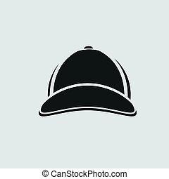 baseballowy biret, ikona