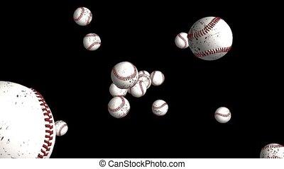 Baseballs Flying Through Space