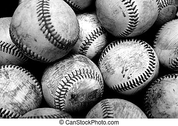 Baseballs Sports Pile Past Time American Fun