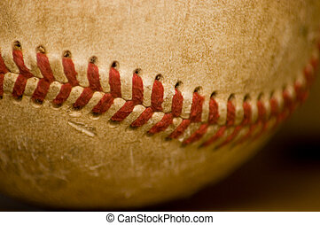 basebol, close-up, bola