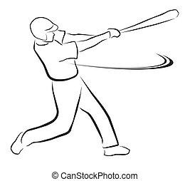 basebol, ilustração