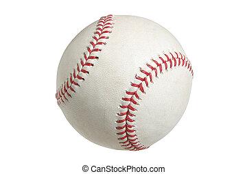 basebol, isolado, caminho cortante