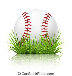 basebol, ligado, capim, 10eps