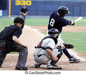 baseboll piska, gunga, right-handed