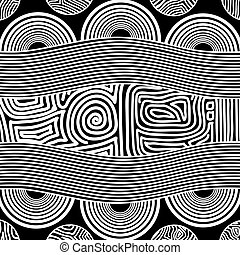 Based on aboriginal style of dot painting.