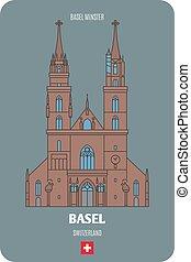 Basel Minster in Basel, Switzerland