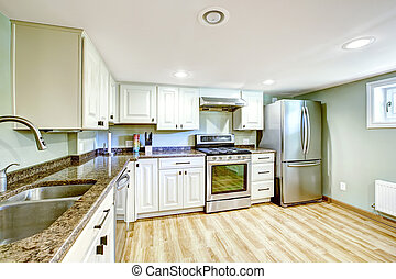 Basement kitchen room. Mother-in-law apartment