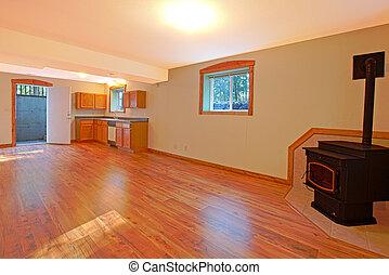 large open basement