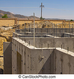 Basement of a new house being constructed