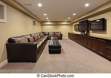 Basement of luxury home